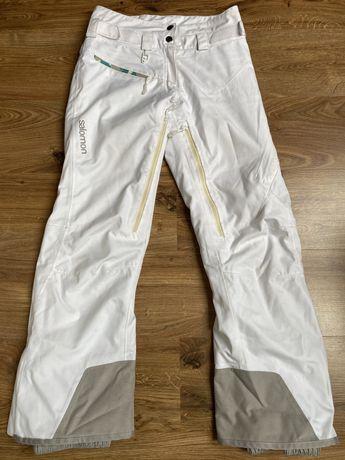Spodnie narciarskie SALOMON XS białe Damskie