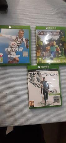 Gry Xbox one  FIFA 19 MineCraft i Quantum Break