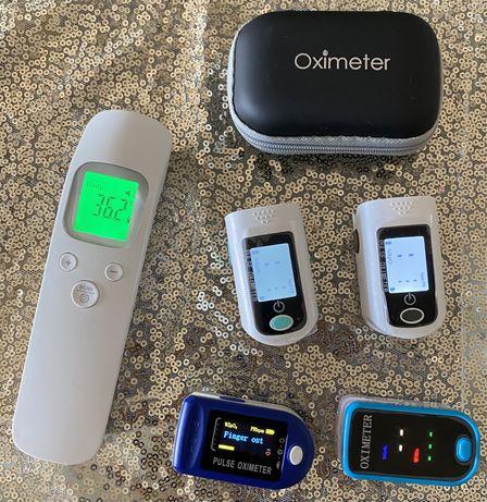 Termometro e Oximetro com pilhas e bolsa de transporte Novos