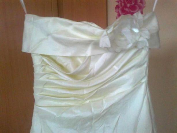 Suknia sukienka ecri ślub wesele 38-40 M-L
