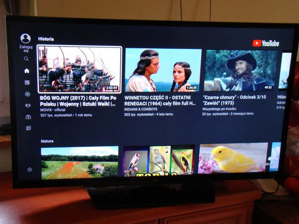 DUAL Grundig  tv smart 39 cali Wi-FI ytube  TV naziemne