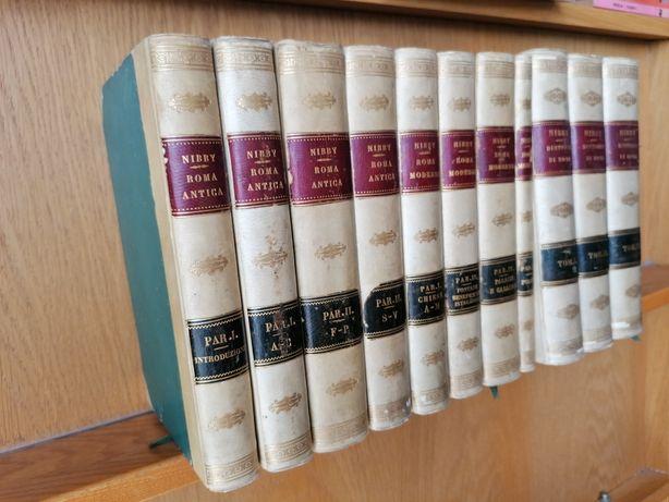 11 volumi 1838. Antonio NIBBY. ROMA ANTICA MODERNA DINTORNI