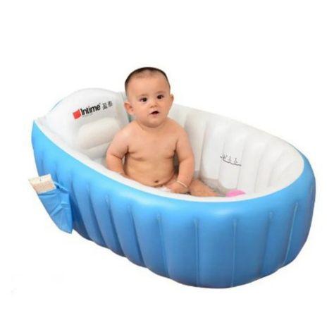 Ванночка детская надувная Intime Baby Bath Tub синяя Отличный подарок
