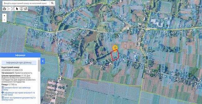 Земля в с. Беседка, Киевская обл. (0,4243 га)