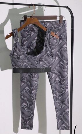 Burberry legginsy top sportowy m/l