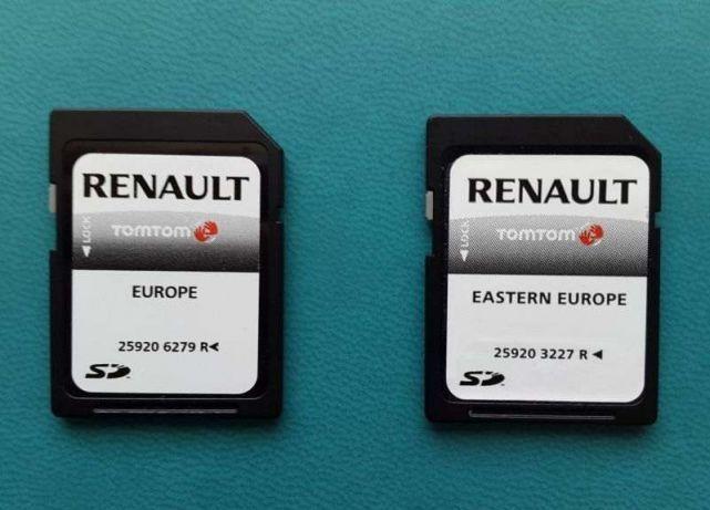 Karta do Renault Laguna Megane Scenic Clio po 2010 Carminat Live 2021
