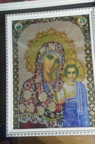 Продам иконы и картину (алмазная вышивка)
