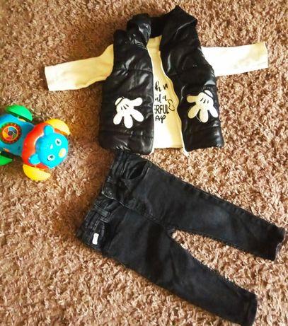 Детская жилетка, регламент, джинсы