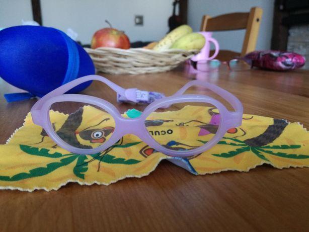 Silikonowe okulary dziecięce z futerałem, szkła +1,25