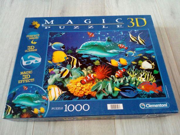 Puzzle magic 3D okulary w zestawie