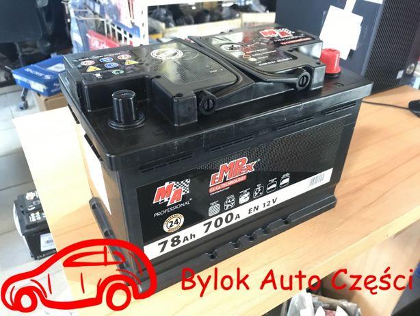"""AKUMULATOR 78AH/700A """"Moje Auto"""" NOWY!!! Prawy+ """"Bylok Gliwice"""""""
