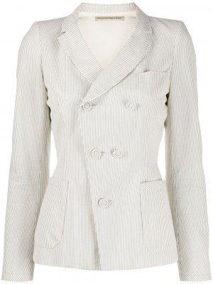Блейзер пиджак в полоску с шелковой подкладкой от Balenciaga pre-owned