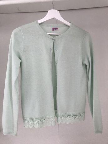 Miętowy sweterek 152