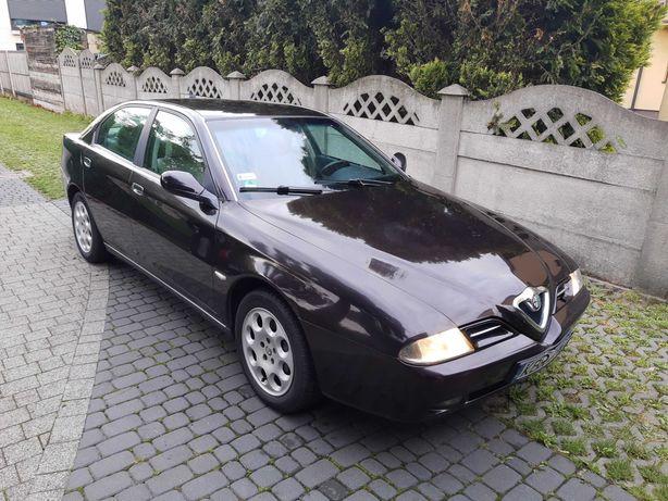 Alfa 166 2.5 V6 manual Busso stan bdb. Piękna Nero Vulcano