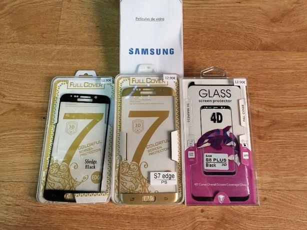 Película de vidro temperado completa curva Samsung S8/S9/S10/S10+/etc