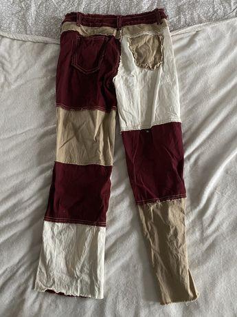 Spodnie patchwork shein