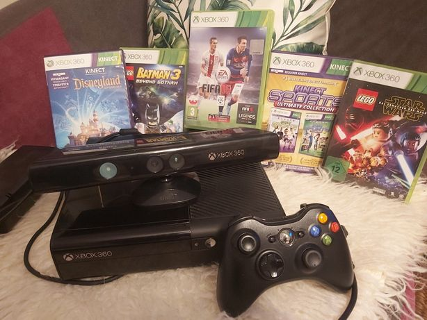 Xbox 360 5 Super gier kinect Pad 500gb