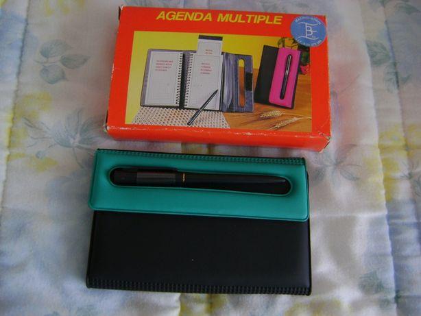 Agenda multiple - telefone e morada, notas e plano semanal