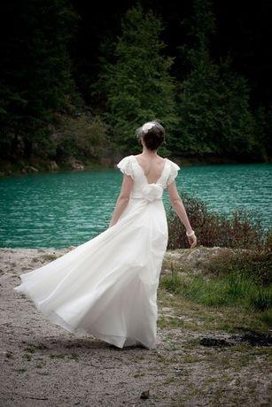 Suknia ślubna boho retro wanilia/śmietana roz.36