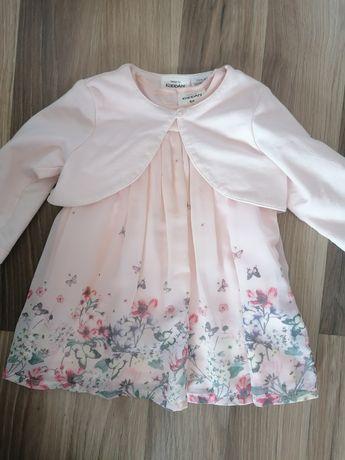 Piękny zestaw KaapAhl newbie sukienka + bolerko różowe na roczek