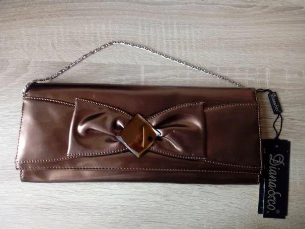Nowa torebka kopertówka kopertowa złota 3 w 1
