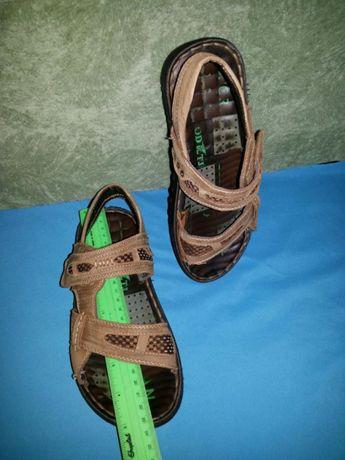 Босоножки кожаные унисекс 36 размер мальчик девочка
