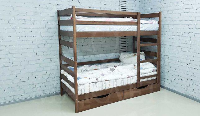 Двоярусне букове ліжко 80 на 190
