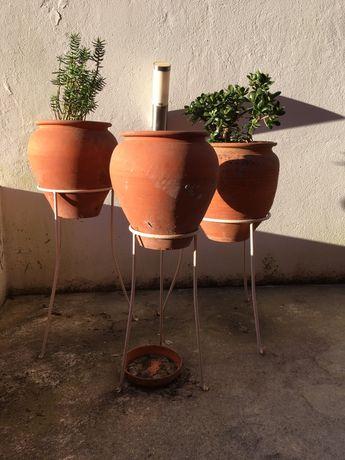 Vasos antigos e talha anos 80 (com suportes e bases)