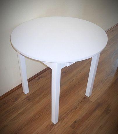 Stół okrągły 80 cm z szufladą biały inne kolory wymiary 70 , 90 , 100