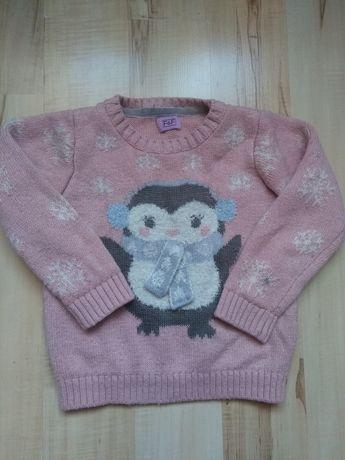 Sweterek świąteczny bluzki dla dziewczynki