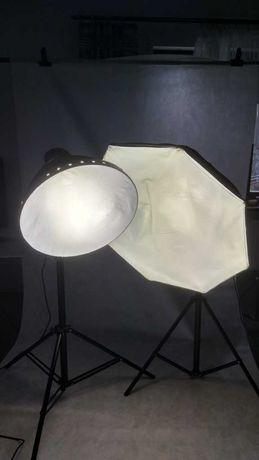 2 Lampy studyjne światła ciągłego  LHD 928 F+S 1260