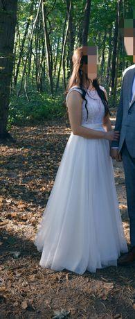 Suknia ślubna rozmiar 36 ivory romantyczna koronka