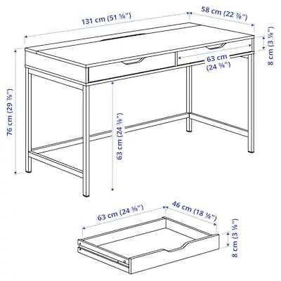 ALEX biurko Ikea stan dobry + szaroturkusowe
