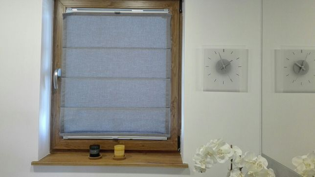 ANWIS Roleta rzymska RVS, szara na okno 80x100