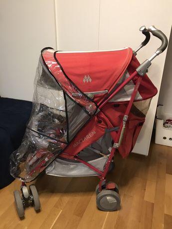 Wózek parasolka Mclaren techno XT - kolor malinowy, pelny zestaw!!