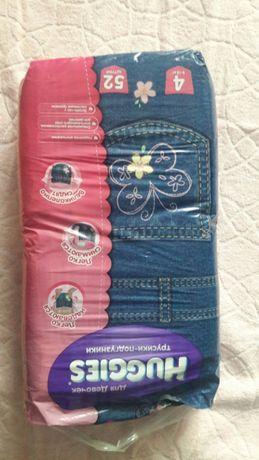 Продам памперсы хаггис-трусики 4 джинсовые для девочек