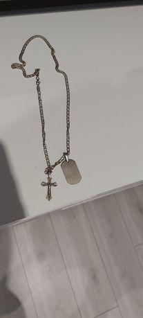 Łańcuszek srebrny + zawieszki