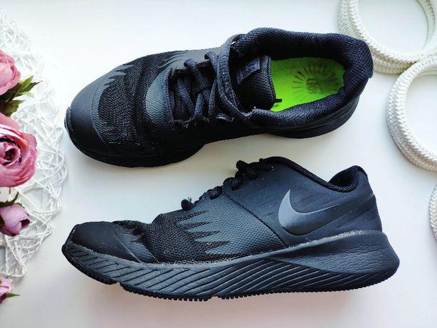 Nike Найк 36 24см Черные кроссовки летние на липучках сетка кросовки