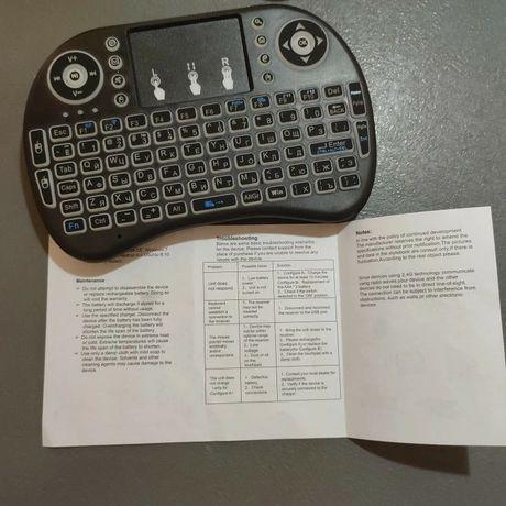 Беспроводная клавиатура mini i8 с подсветкой