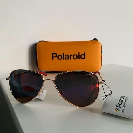 Orrginalne pilotki Polaroid okulary przeciwsloneczne!