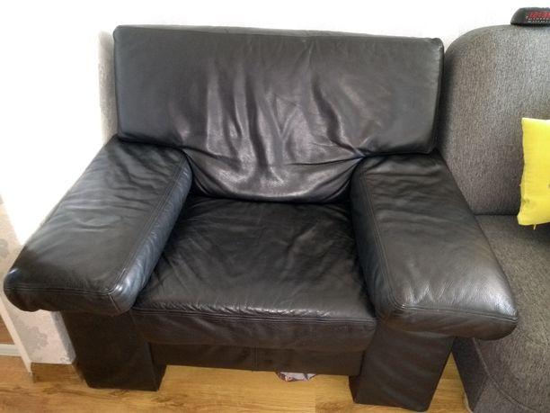 Fotel skórzany duzy