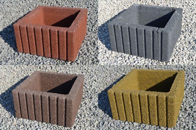 Donica kwadratowa, Gazon 40 x 40 x 20 cm wysyłka cały kraj DHL