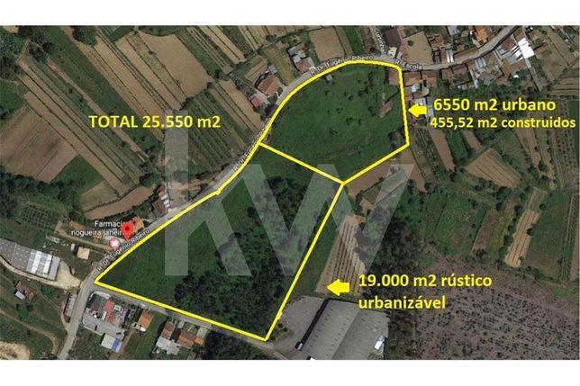 Quinta agrícola em Águeda com 6550 m2 urbanos e 7000 m2 urbanizáveis