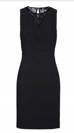 Czarna elegancka sukienka 44 BON PRIX