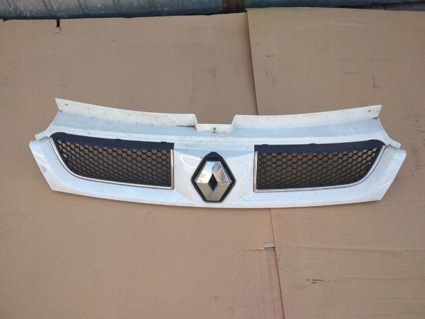 Atrapa Grill Renault Trafic 01-06r Biały oryginał Wzmocnienie Pas