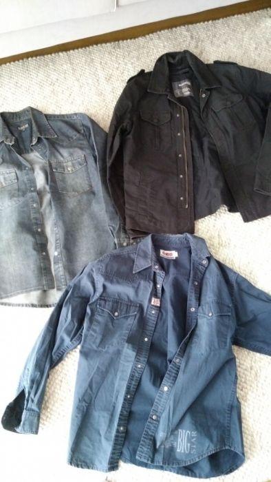 Koszule i kurtka jeans