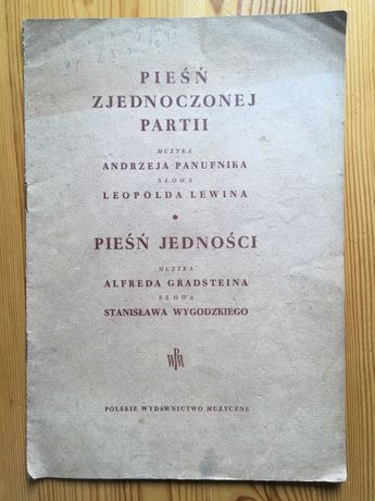 Nuty A. Panufnik 1948 Pieśń Zjednoczonych Partii