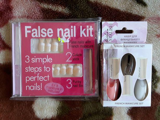 Набор лак ногти накладные