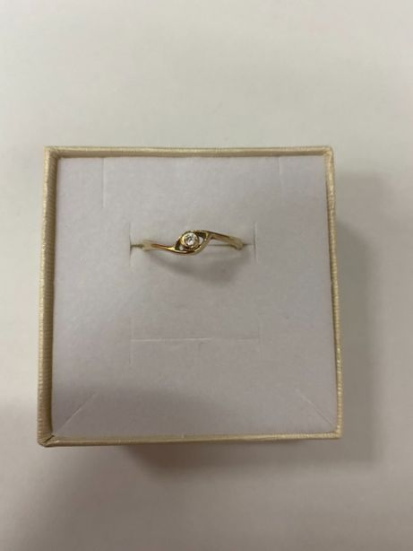 delikatny złoty pierścionek p585 1,57g