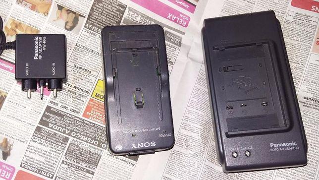 carregadores baterias Sony Nacional gravador video + adaptador RF